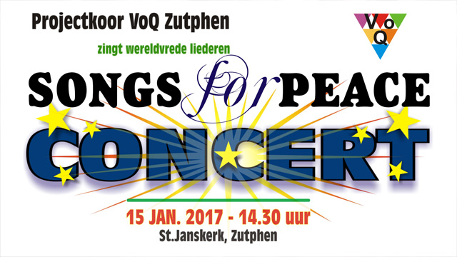 Impressies van SONGS for PEACE in de St.Janskerk