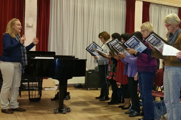 impressies 1e repetitie SONGS for PEACE
