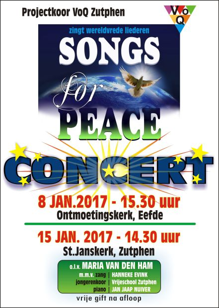 Affiche concert SONGS for PEACE